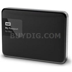 My Passport for MAC 2 TB Hard Drive, Black/Silver - OPEN BOX