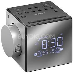 Alarm Clock Radio w/Time Projection (ICF-C1PJ)