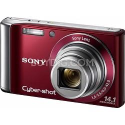 Cyber-shot DSC-W370 14MP Red Digital Camera w/ 720p HD Video - REFURBISHED