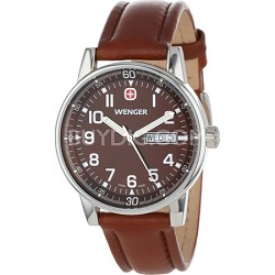 Men's Commando Day Date XL Watch - Brown Sunray Dial/Brown Leather Strap