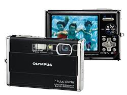 Stylus 1050SW 10MP Shockproof Waterproof Digital Camera (Black) - REFURBISHED