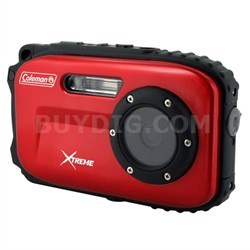 Xtreme C5WP 12MP 33ft. WaterprFCam, Anti-Shake, Face Detection (Red) - OPEN BOX