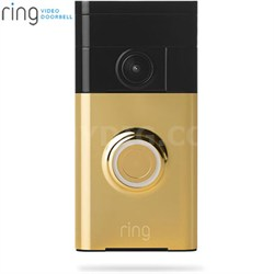 Video Doorbell Wi-Fi Enabled Smartphone Compatible (Polished Brass)