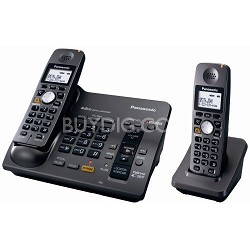 KX-TG6072B 5.8 GHz Cordless Telephone w/Digital Answering machine and 2 Handsets