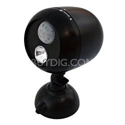 180-Degree Wireless Motion Sensing LED Flood Light, 80-Lumens, Black