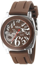 """Crystal 8"" Analog Round Watch Brown - 40115"