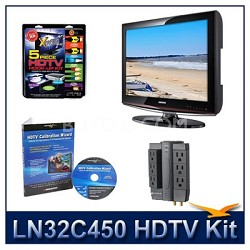 LN32C450 - HDTV + High-performance Hook-up Kit + Power Protection + Calibration