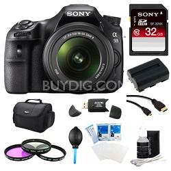 Alpha SLT-A58K Digital SLR Camera 32 GB Bundle
