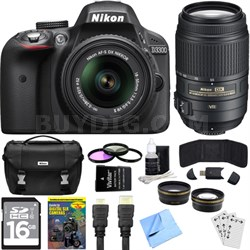 D3300 24.2 MP DX-format Digital SLR Ultimate 4 Lens Experience