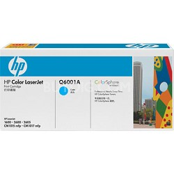 Color LaserJet Q6001A Cyan Print Cartridge w/ Smart Printing Technology