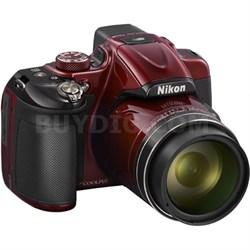 COOLPIX P600 16.1MP Digital Camera (Red) - Manufacturer Refurbished