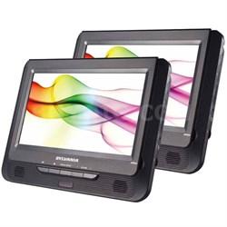 """SDVD9805 9"""" Twin Dual Screen DVD Player"""