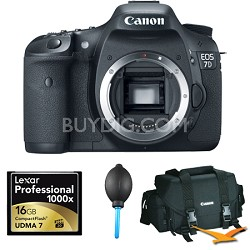 EOS 7D 18 MP CMOS DSLR Camera with 3-inch LCD (Body Only) Plus 16 GB Bundle