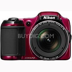 COOLPIX L820 16 MP 30x Zoom Digital Camera - Red