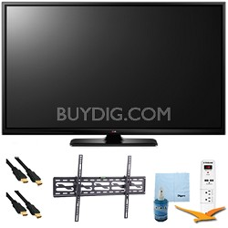 "60PB6900 - 60"" Plasma 1080p 600Hz Smart 3D HDTV Plus Tilt Mount & Hook-Up Bundle"