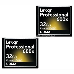 LCF32GCTBNA6002 - Compact Flash 2-pk 32gb 600x