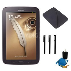 "8"" Galaxy Note 8.0 16GB Brown Tablet Essentials Bundle"