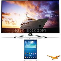 "UN55F7500 - 55"" 1080p 240hz 3D Smart Wifi LED HDTV - 8-Inch Galaxy Tab 3 Bundle"