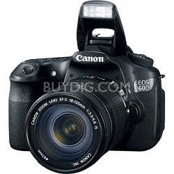 EOS 60D 18 MP SLR Digital Camera w/ 18-135 Lens International Warranty