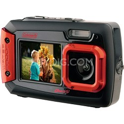 Duo2 2V9WP Rugged Dual Screen Waterproof Camera - Red