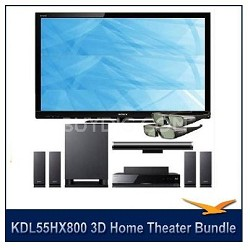 "KDL55HX800 - 55"" 1080p 240Hz LED 3D HDTV+Home Theater, 3D Transmitter, 2 Glasses"
