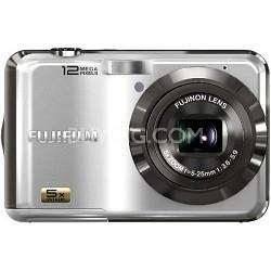 FinePix AX200 12 MP 5x Wide Angle Zoom Digital Camera (Silver)