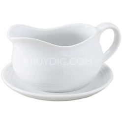 24-ounce Porcelain Hotel Gravy Boat with Saucer