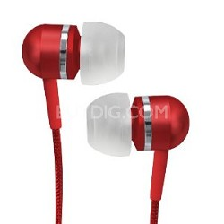 CVEM79RED Jammerz Platinum High-Performance Isolation Stereo Earphones (Red)