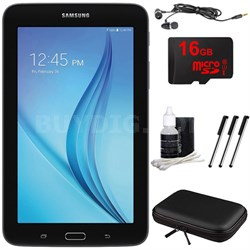 "Galaxy Tab E Lite 7.0"" 8GB (Wi-Fi) Black 16GB microSD Card Bundle"
