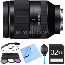 SEL24240 FE 24-240mm F3.5-6.3 OSS Full-frame E-mount Telephoto Zoom Lens Bundle