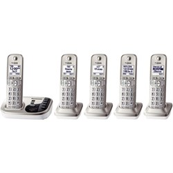 KXTGD224N Dect 6.0 Digital Cordless Phone with 5 Handsets - KX-TGD225N