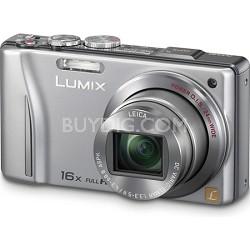 Lumix DMC-ZS10 14.1 MP Silver Camera w/16x Zoom & GPS