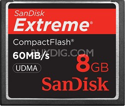 8 GB Extreme CompactFlash Memory Card 60MB/S {SDCFX-008G-A61}