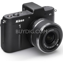 1 V1 SLR Black Digital Camera w/ 10-30mm VR Lens