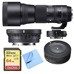 150-840mm F5-6.3 Contemporary Lens, Teleconverter, Dock for Canon/Sony E Mount