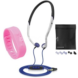 Addidas In-Ear Headband Sports Headphones And Jamsonic Fitness Band Workout Kit