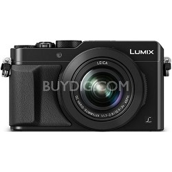 LUMIX LX100 Integrated Leica DC Lens Black Camera with Advanced Controls
