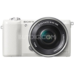 a5100 Mirrorless Camera w/ 16-50mm lens with Wifi- White