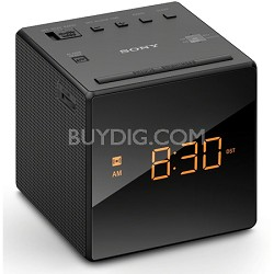 Alarm Clock with FM/AM Radio, Black (ICF-C1BLACK)