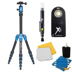 A0350Q0B Backpacker Travel Blue Tripod Accessory Kit