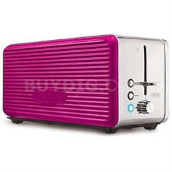 Linea 4-Slice Long Slot Toaster in Pink- 14171