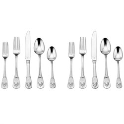 2-Pack of 20-Piece Flatware Set, French Rooster CFE-01-FR20
