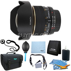 14mm f/2.8 IF ED MC Super Wide Angle Fisheye Lens for Nikon - Lens Kit Bundle