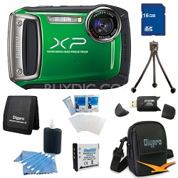 Finepix XP100 14MP CMOS Digital Camera 16 GB Bundle (Green)