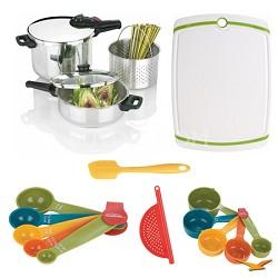 Splendid 2-in-1 5 Pc. Multi Pressure Cooker Set, Board, Measuring Sets Bundle