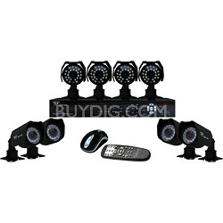 8 Channel H.264 DVR w/ Internet - 500GB HD, 8 Cameras, iPhone Compatible