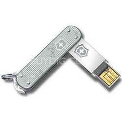 Slim USB 32GB Alox High Speed Flash Drive (Silver)