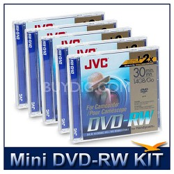 10-Pack of Mini DVD-RW Rewriteable 1.4GB Discs for Sony DVD Camcorders (5 2-pack
