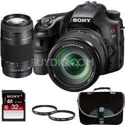 Alpha SLT-A57 16.1 MP Digital SLR with 18-135 Lens + 75-300 Lens