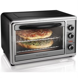 Countertop Oven with Convection and Rotisserie - Silver/Black